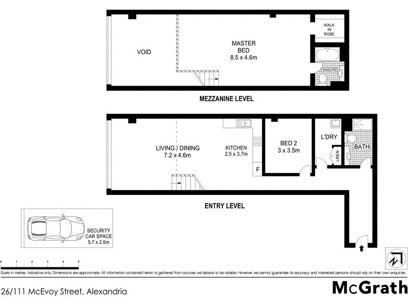 26/111 McEvoy Street, Alexandria NSW 2015 Floorplan