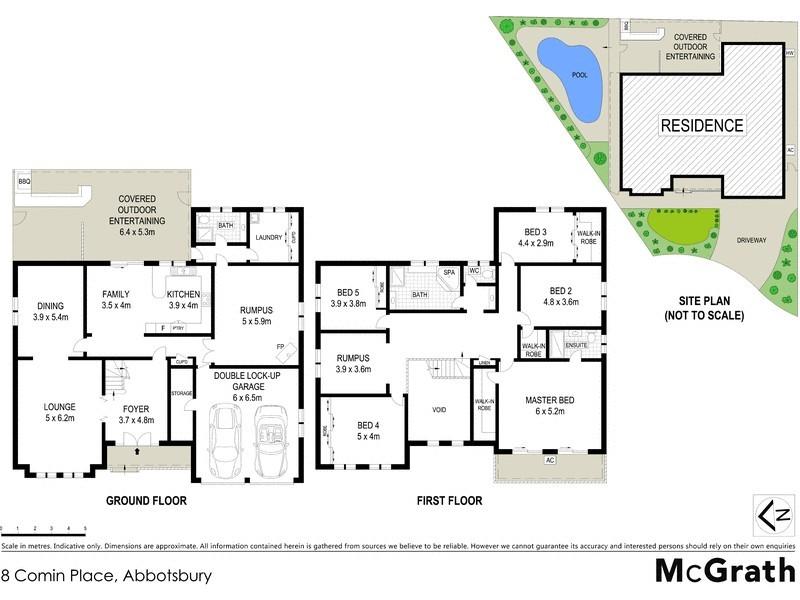 8 Comin Place, Abbotsbury NSW 2176 Floorplan