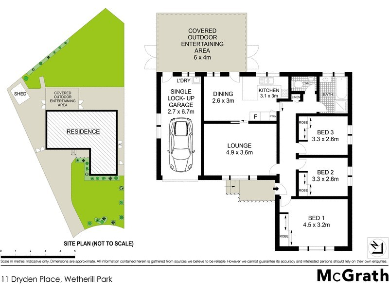 11 Dryden Place, Wetherill Park NSW 2164 Floorplan