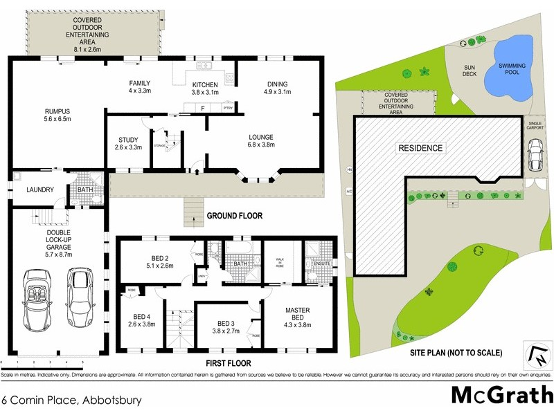 6 Comin Place, Abbotsbury NSW 2176 Floorplan