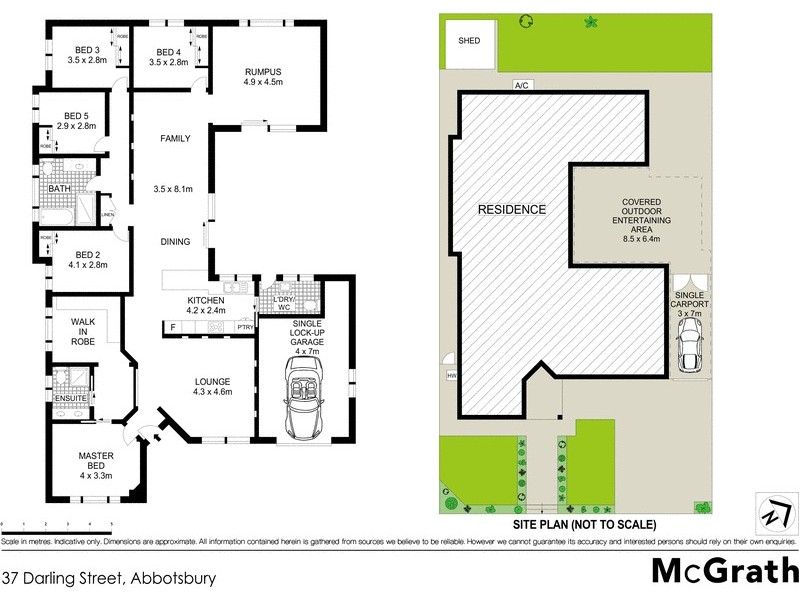 37 Darling Street, Abbotsbury NSW 2176 Floorplan