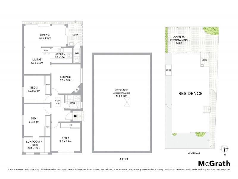 12 Hatfield Street, Mascot NSW 2020 Floorplan