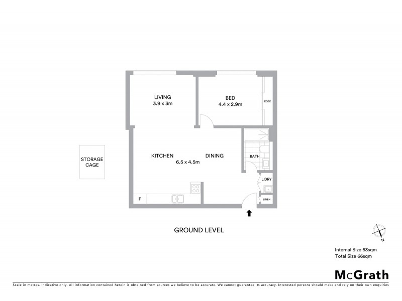 403/12 Primrose Avenue, Rosebery NSW 2018 Floorplan