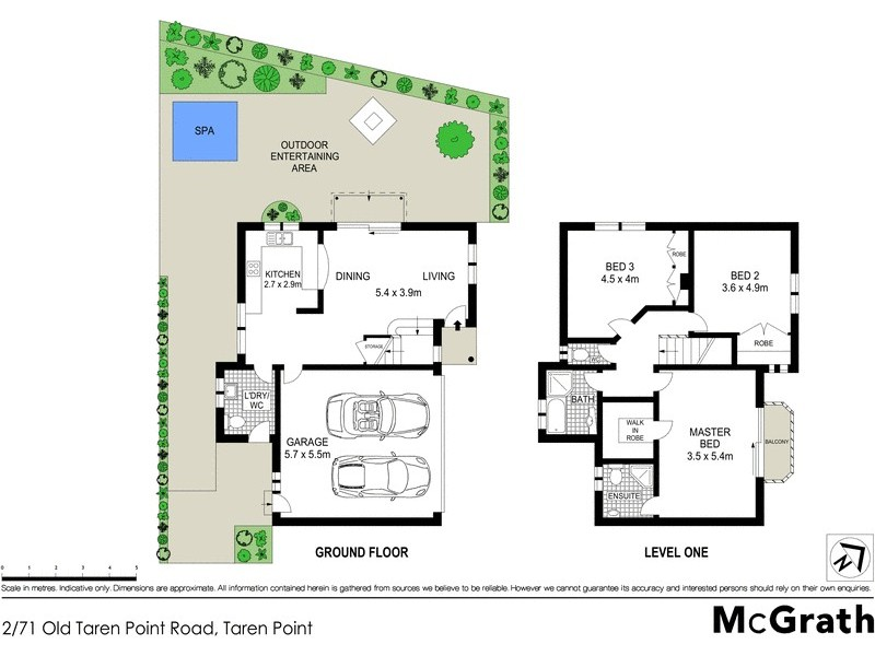 2/71 Old Taren Point Road, Taren Point NSW 2229 Floorplan
