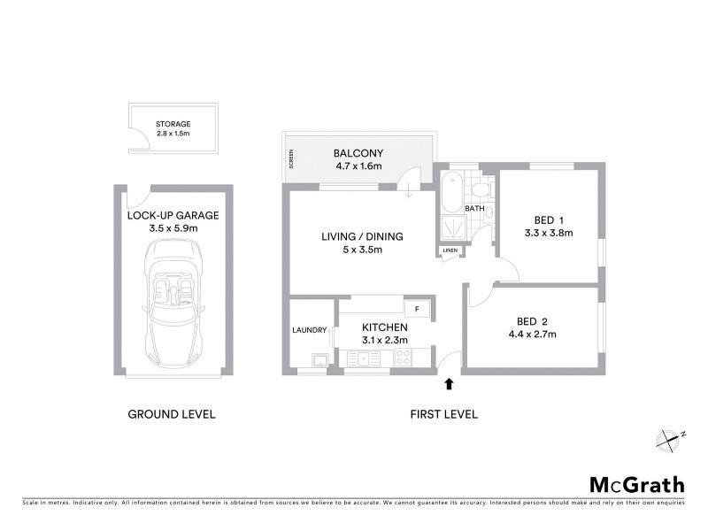 2/20 Queens Road, Brighton-le-sands NSW 2216 Floorplan