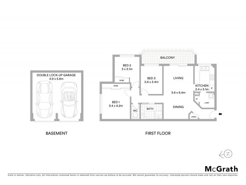 64/491-497 President Avenue, Sutherland NSW 2232 Floorplan