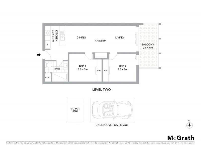 206/50 High Street, Preston VIC 3072 Floorplan