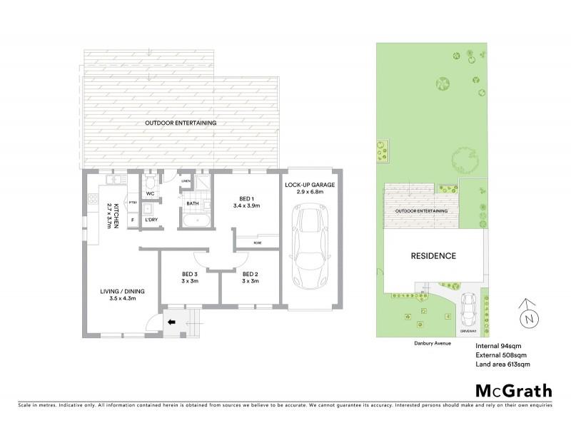 1 Danbury Avenue, Gorokan NSW 2263 Floorplan
