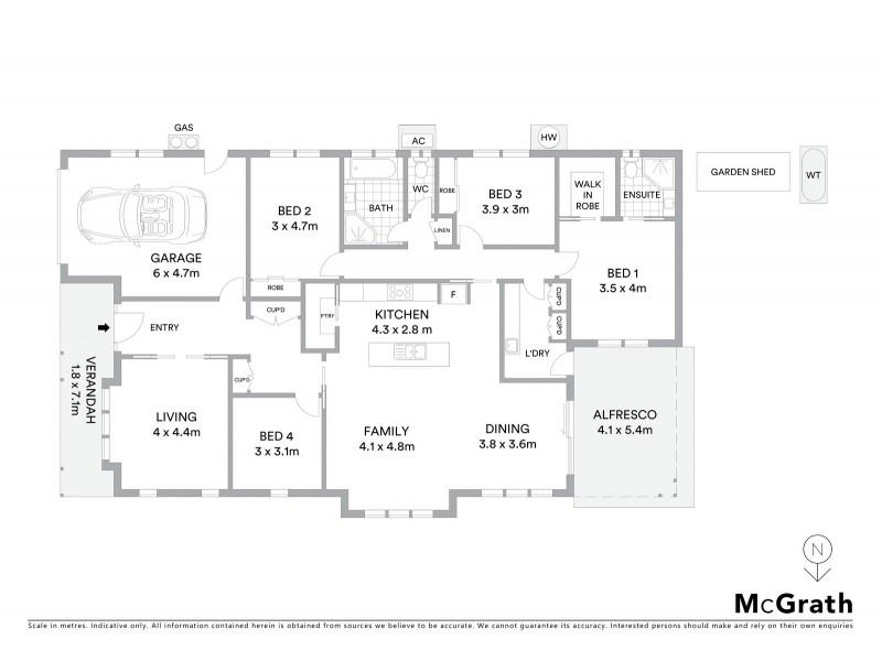 16 Robertson Street, Mudgee NSW 2850 Floorplan