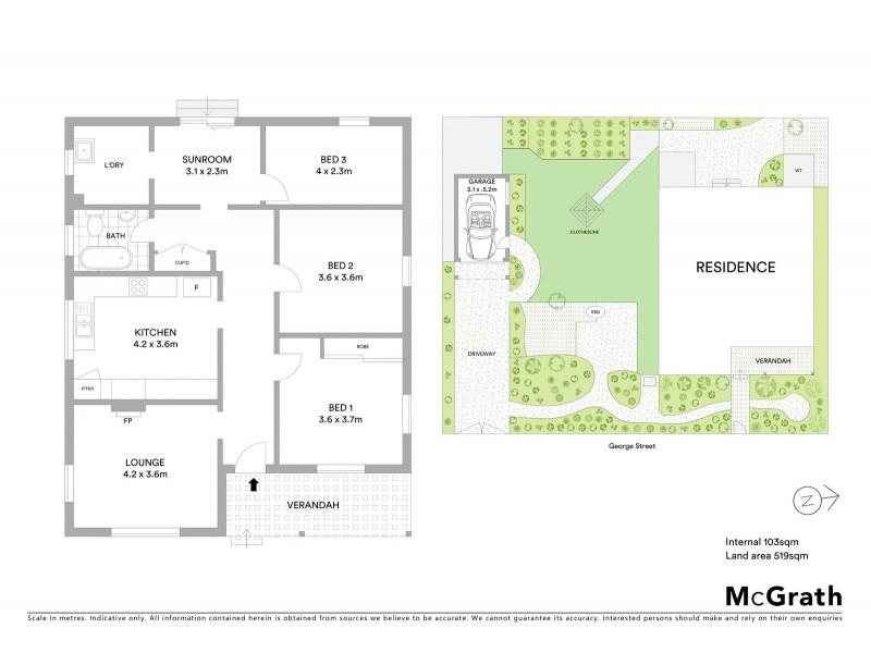 36 George Street, Mudgee NSW 2850 Floorplan