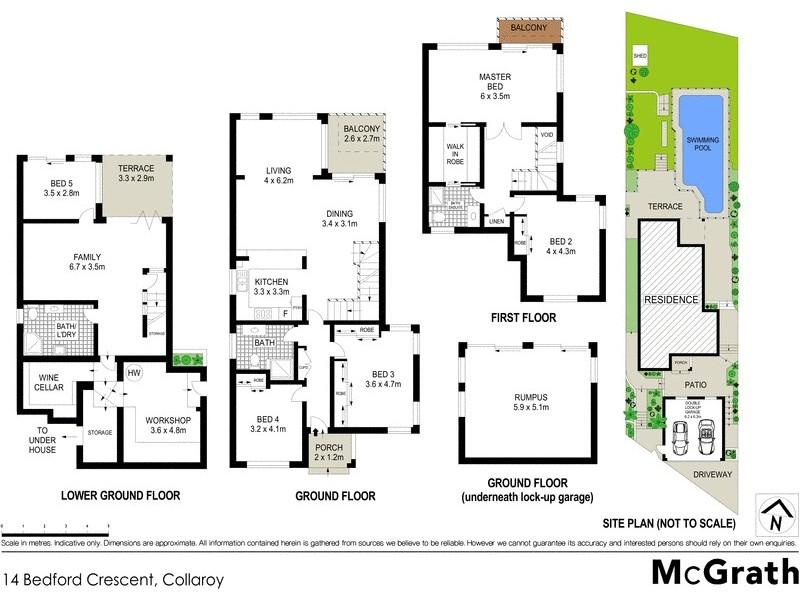14 Bedford Crescent, Collaroy NSW 2097 Floorplan
