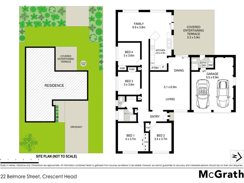 22 Belmore Street, Crescent Head NSW 2440 Floorplan