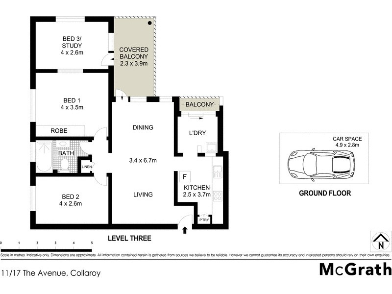 11/17 The Avenue, Collaroy NSW 2097 Floorplan