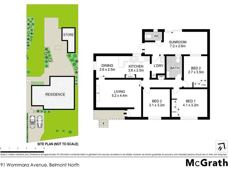 91 Wommara Avenue, Belmont North NSW 2280 Floorplan