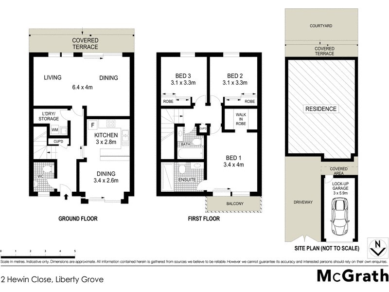 2 Hewin Close, Liberty Grove NSW 2138 Floorplan