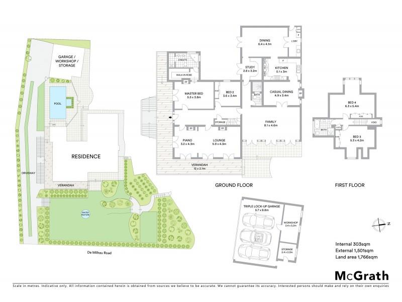 9 De Milhau Road, Hunters Hill NSW 2110 Floorplan