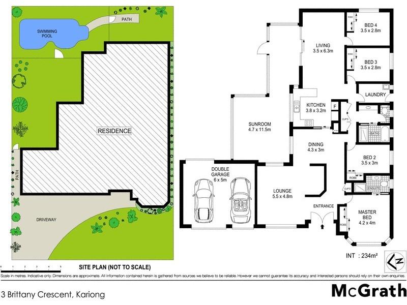 3 Brittany Crescent, Kariong NSW 2250 Floorplan