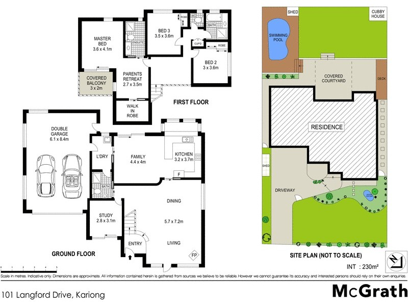 101 Langford Drive, Kariong NSW 2250 Floorplan