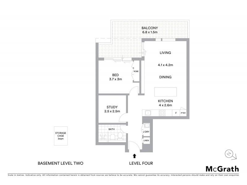 405/18 Ebsworth Street, Zetland NSW 2017 Floorplan
