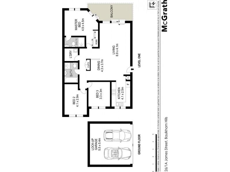 26/1A James Street, Baulkham Hills NSW 2153 Floorplan