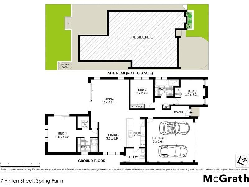 7 Hinton Street, Spring Farm NSW 2570 Floorplan
