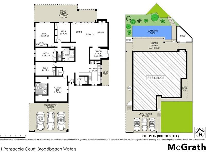 1 Pensacola Court, Broadbeach Waters QLD 4218 Floorplan