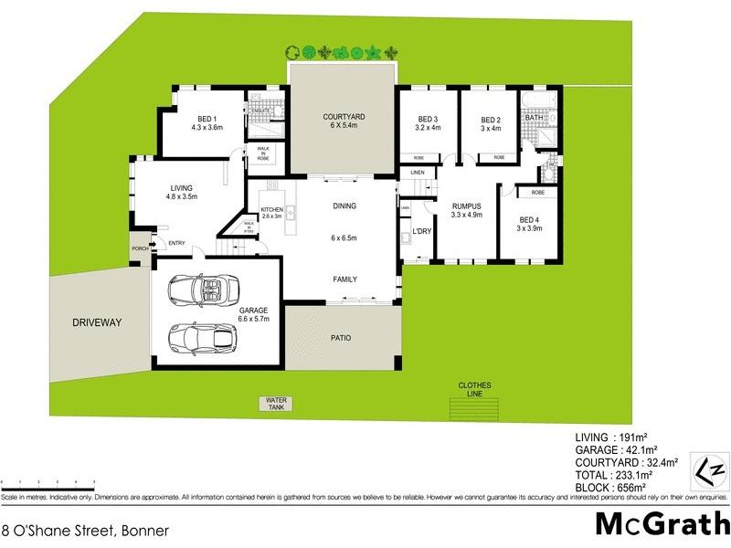 8 O'Shane Street, Bonner ACT 2914 Floorplan
