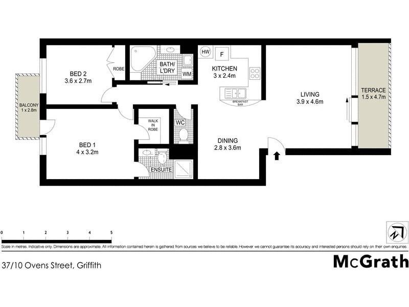 37/10 Ovens Street, Griffith ACT 2603 Floorplan