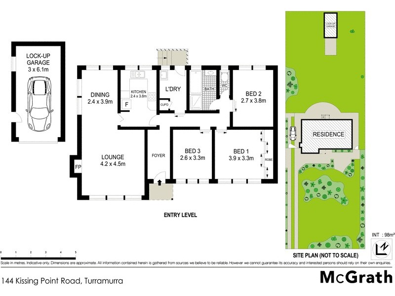 144 Kissing Point Road, Turramurra NSW 2074 Floorplan