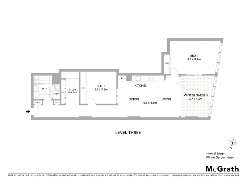 303/710 George Street, Sydney NSW 2000 Floorplan