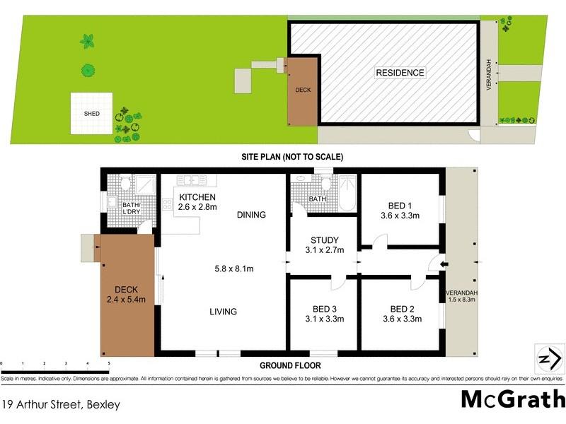 19 Arthur Street, Bexley NSW 2207 Floorplan