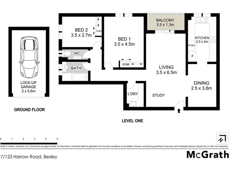 7/123 Harrow Road, Bexley NSW 2207 Floorplan