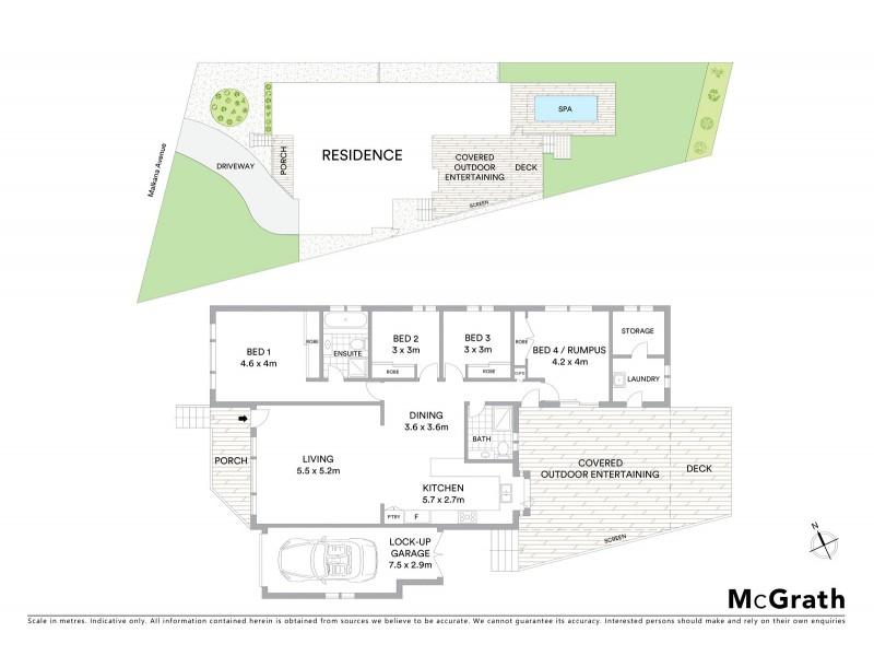 39B Malkana Avenue, Forresters Beach NSW 2260 Floorplan