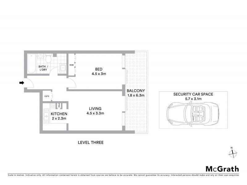 3E/27 Ocean Street, Bondi NSW 2026 Floorplan