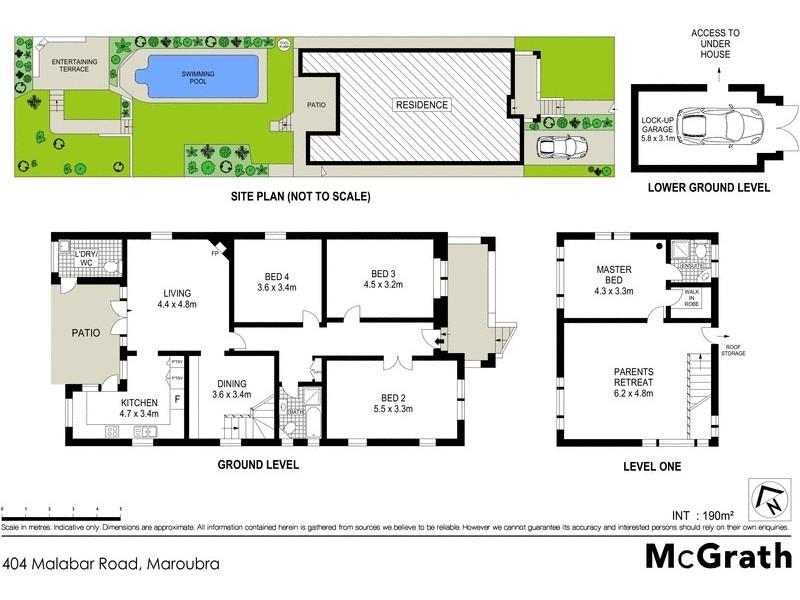404 Malabar Road, Maroubra NSW 2035 Floorplan