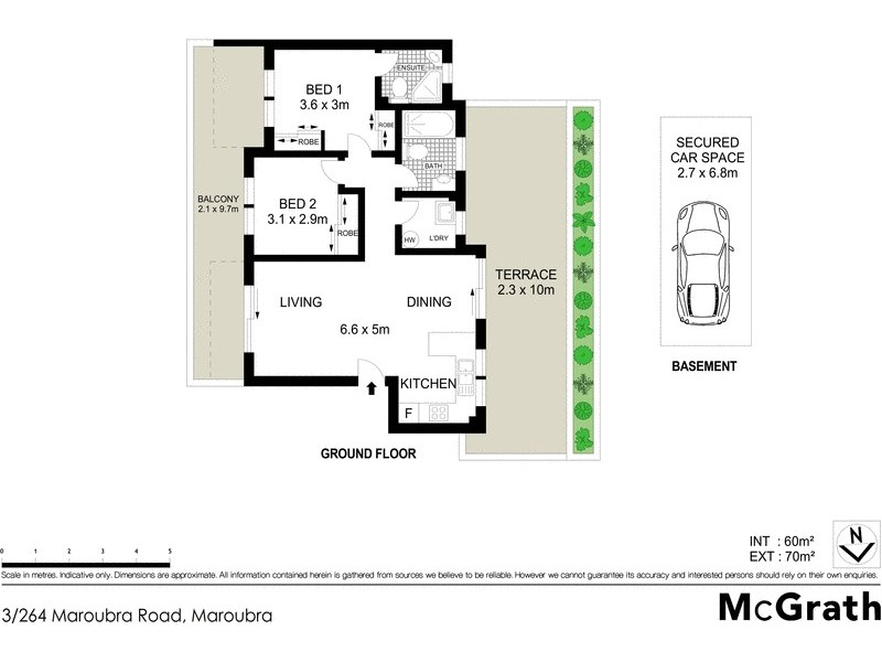 3/264 Maroubra Road, Maroubra NSW 2035 Floorplan