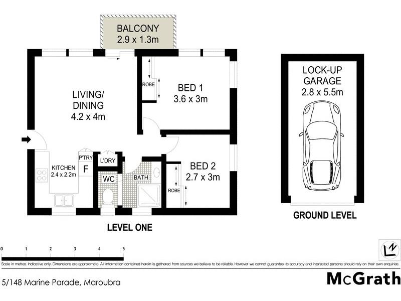 5/148 Marine Parade, Maroubra NSW 2035 Floorplan