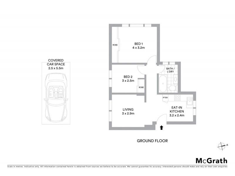 1/2 Elliot Place, Hillsdale NSW 2036 Floorplan