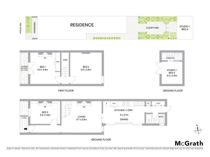 108 Mill Hill Road, Bondi Junction NSW 2022 Floorplan