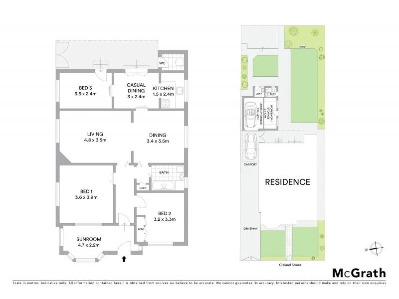 47 Cleland Street, Mascot NSW 2020 Floorplan