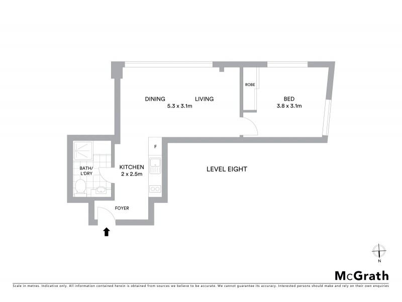 807/38 Bridge Street, Sydney NSW 2000 Floorplan