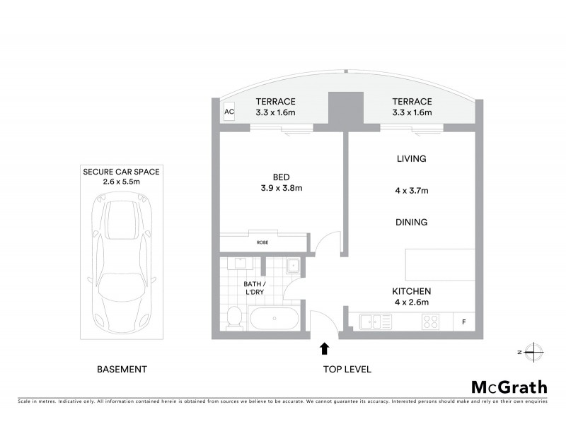 18/20 Clifford Street, Coogee NSW 2034 Floorplan