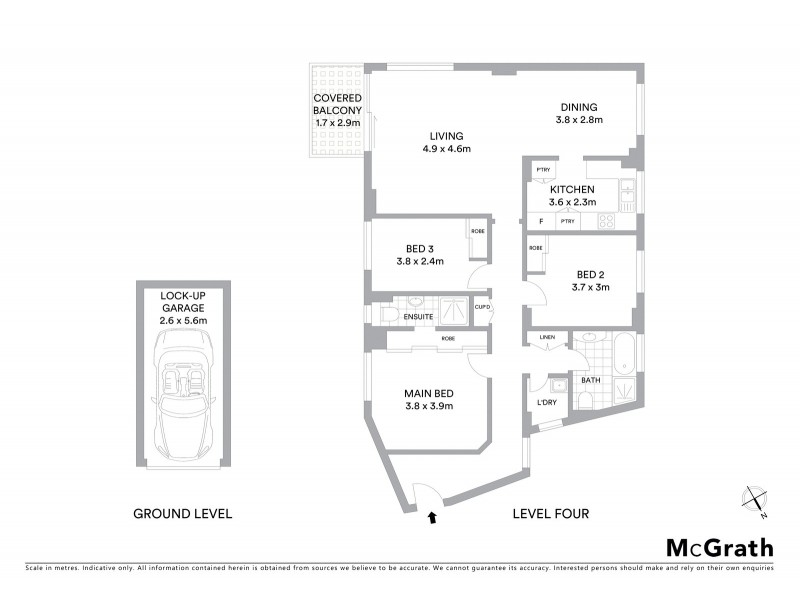 16/178 Beach Street, Coogee NSW 2034 Floorplan