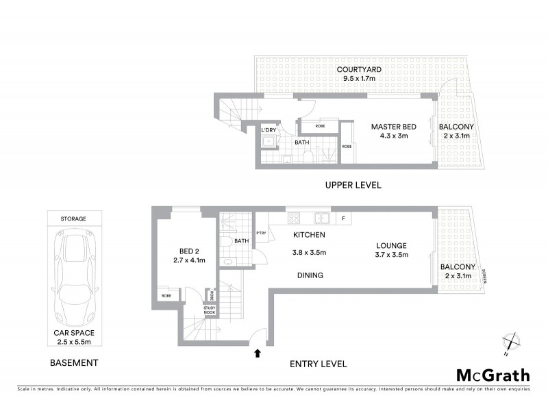 13/403 Old South Head Road, North Bondi NSW 2026 Floorplan