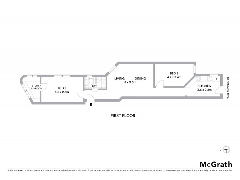 1/235 Old South Head Road, Bondi NSW 2026 Floorplan