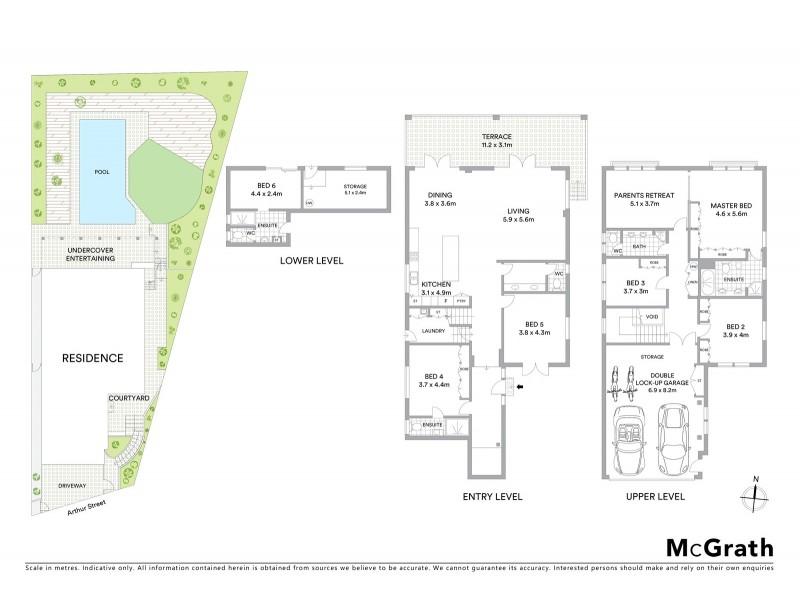 12 Arthur Street, Bellevue Hill NSW 2023 Floorplan