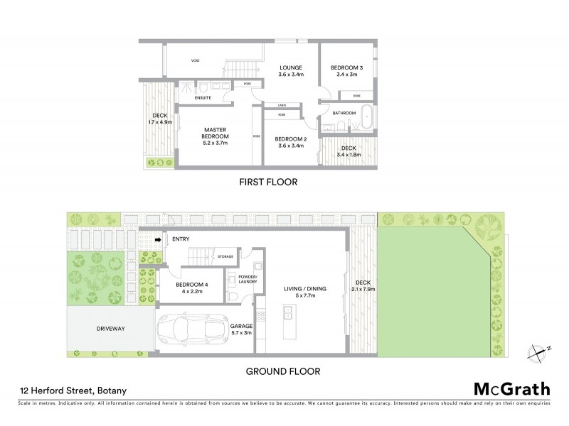 12 Herford Street, Botany NSW 2019 Floorplan