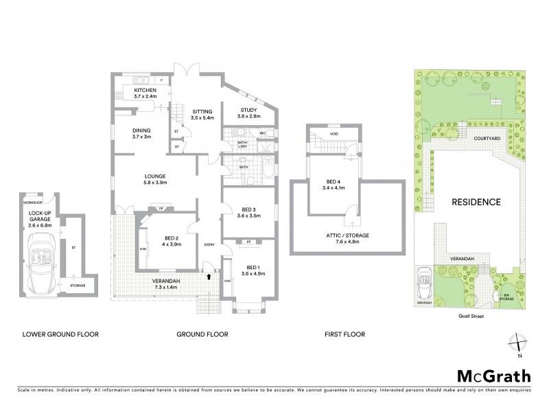 3 Quail Street, Coogee NSW 2034 Floorplan
