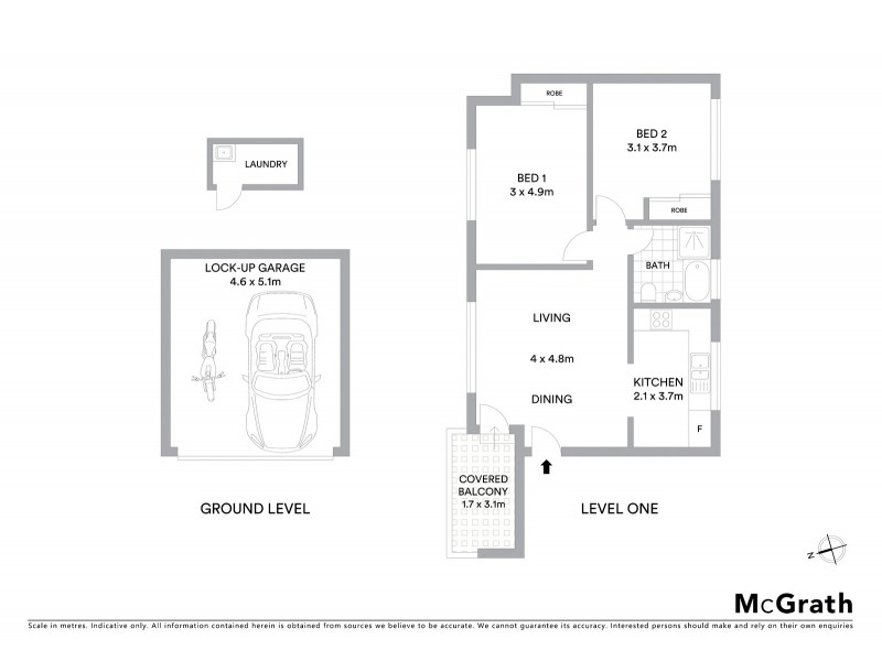 2/73 Arden Street, Coogee NSW 2034 Floorplan