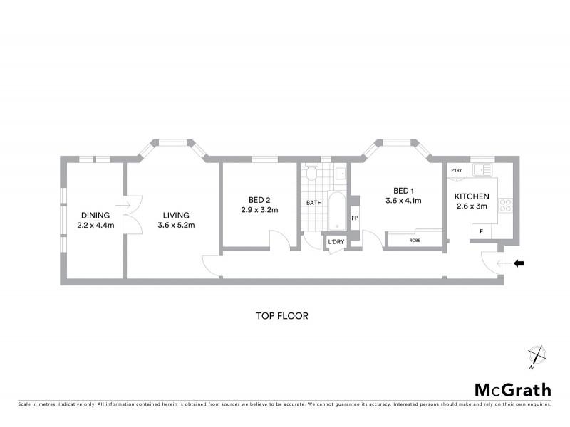 8/1 Latimer Road, Bellevue Hill NSW 2023 Floorplan
